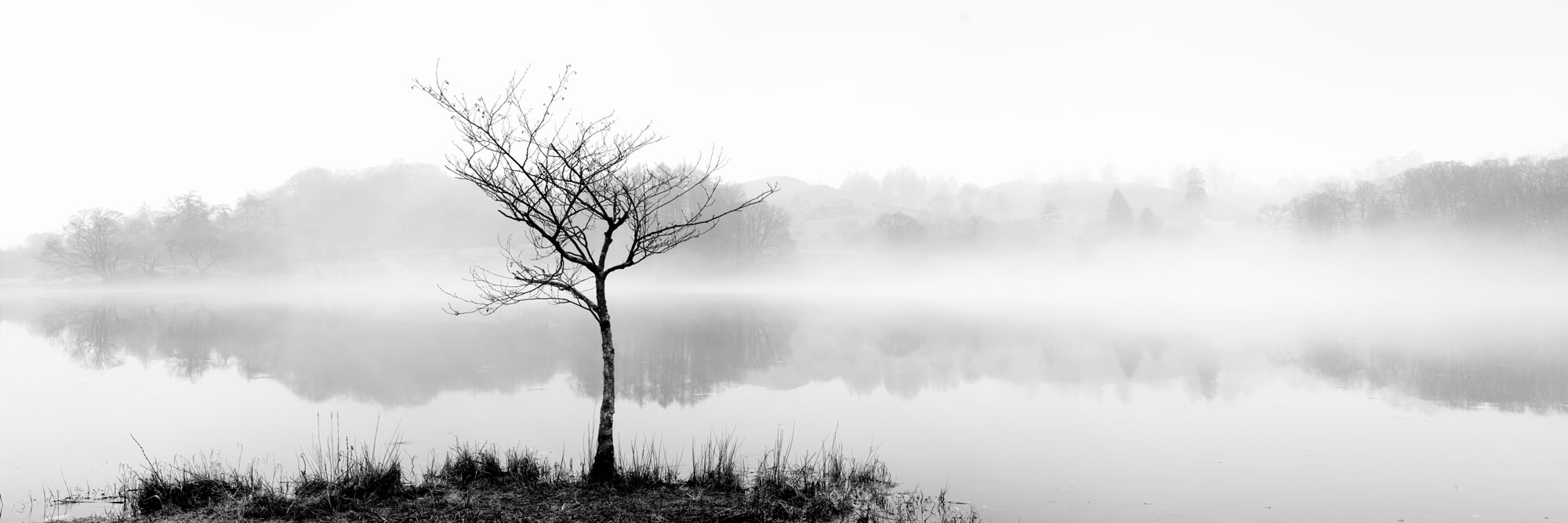 Loughrigg Tarn in the mist