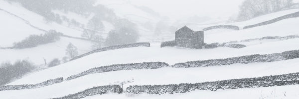 Keld and thwart covered in snow