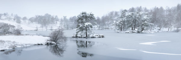 Tarn hows covered in snow