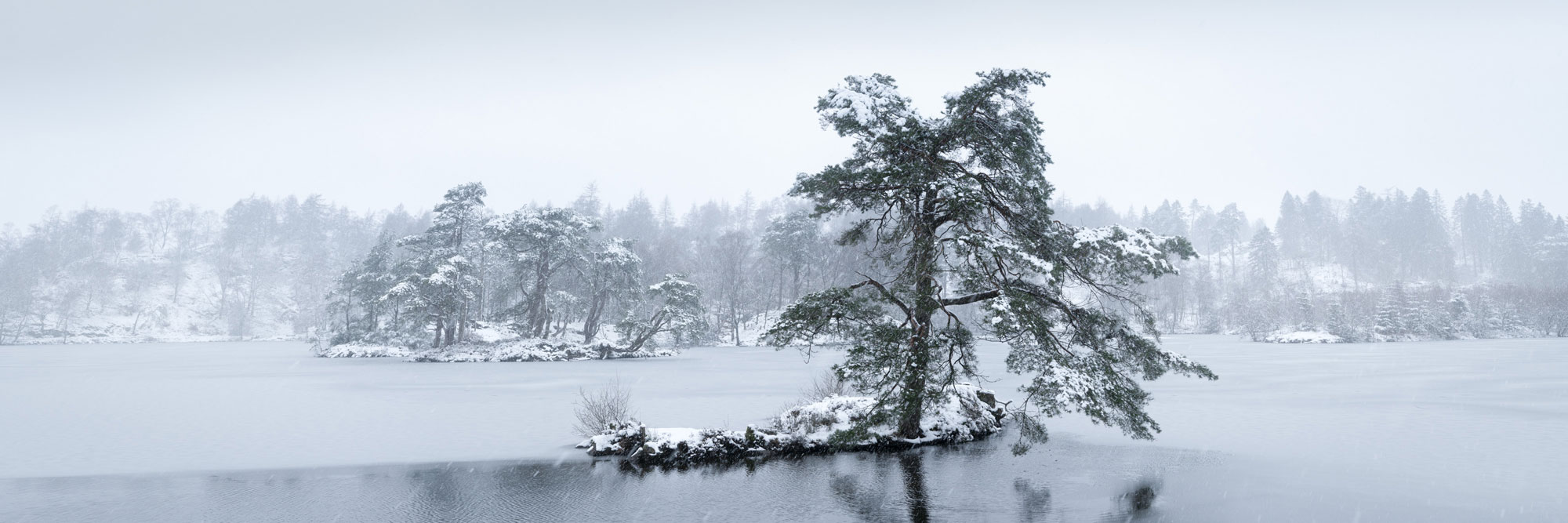 Tarn how's covered in snow
