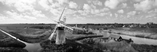English windmill aerial print
