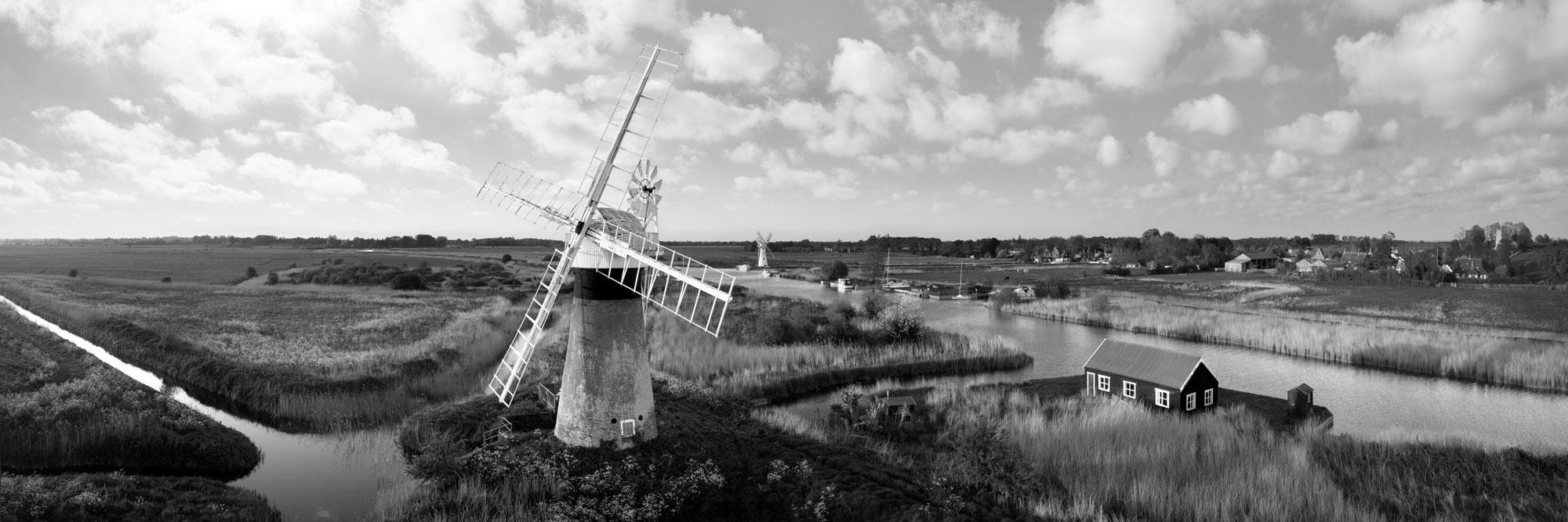 English windmill aerial print