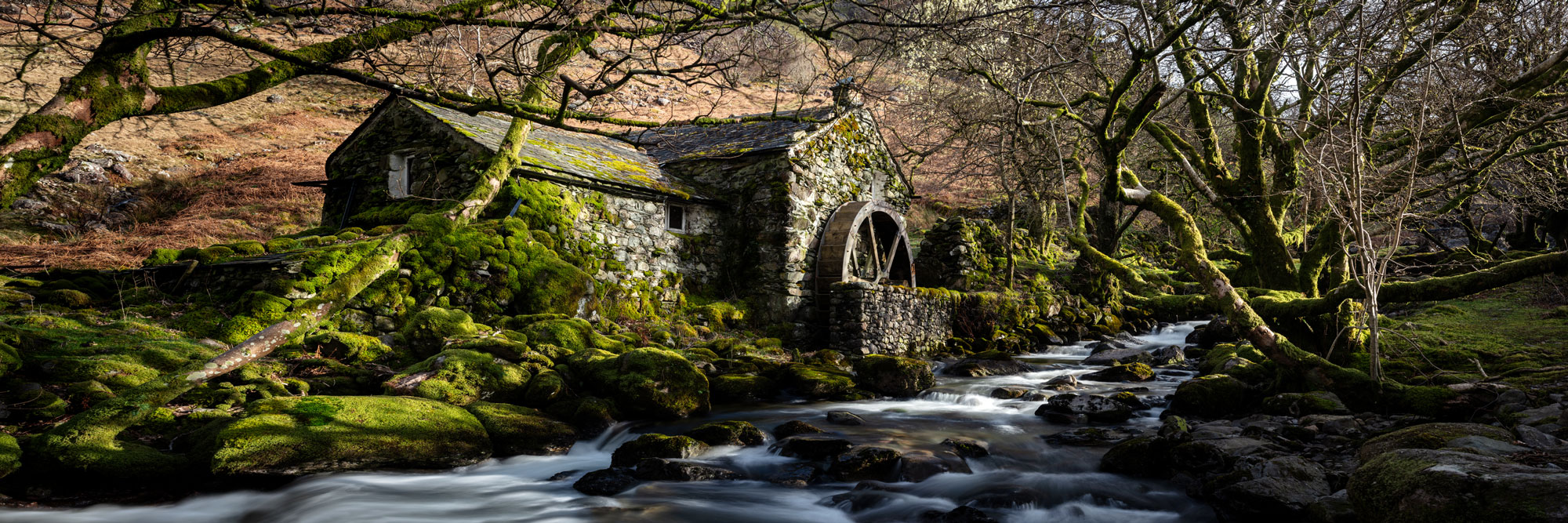 An old watermill in Borrowdale valley Lake District