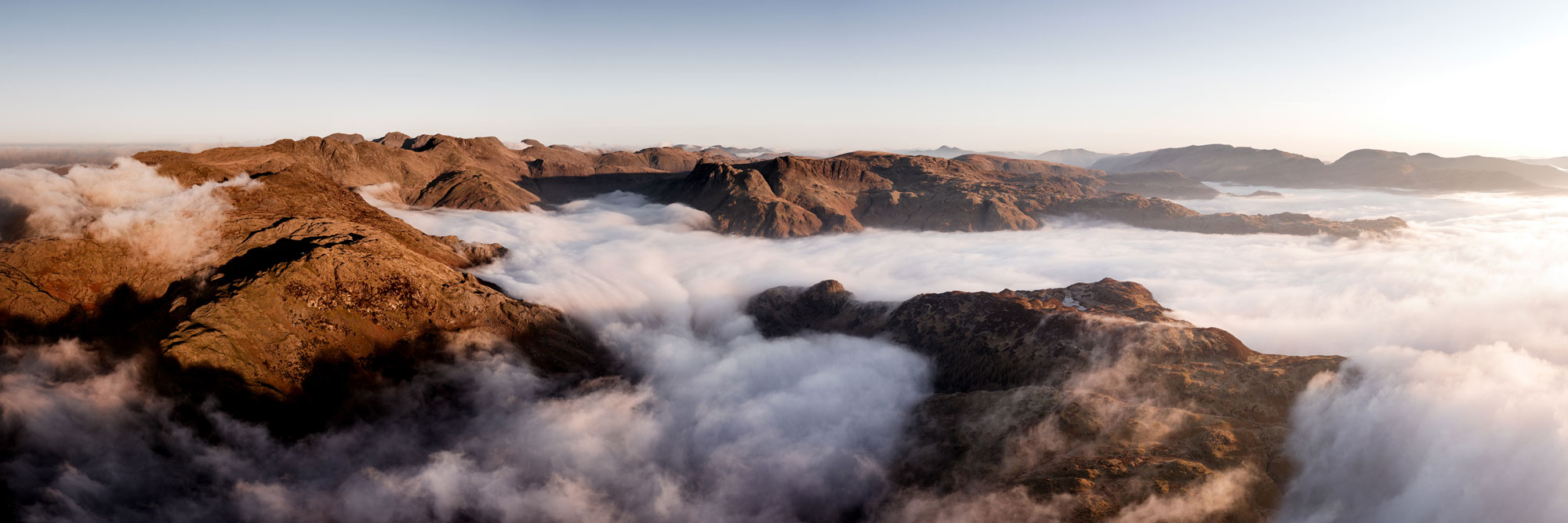 Aerial of a Lake District cloud inversion