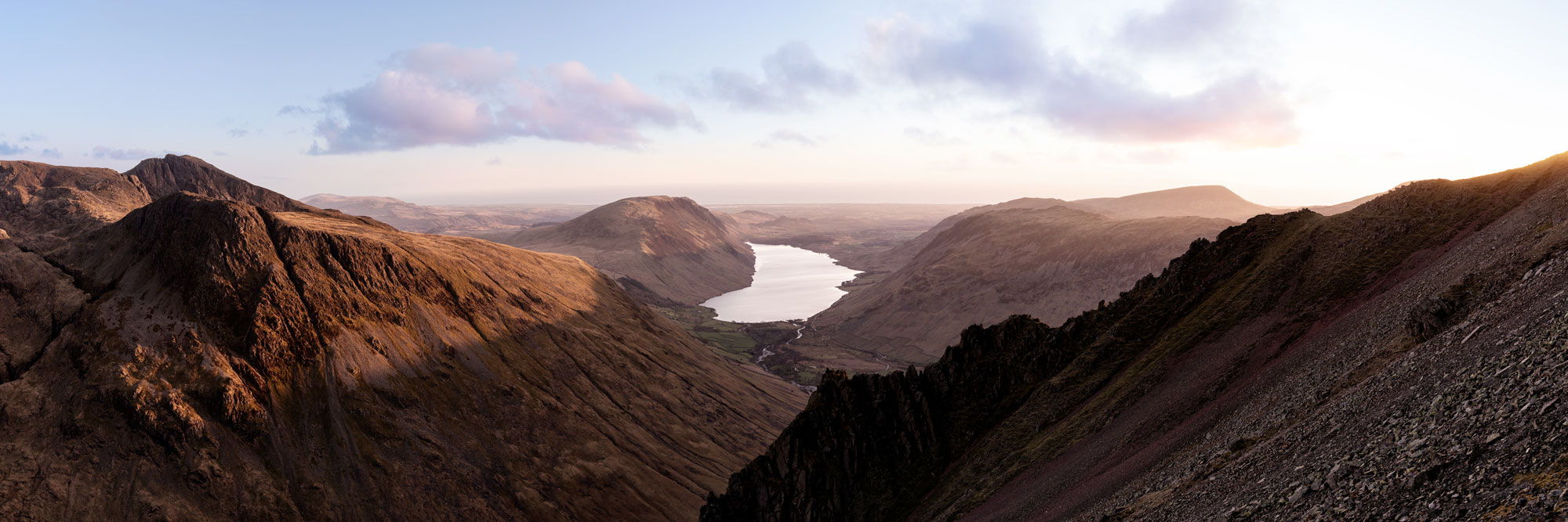 Sunset from Great gable in the Lake District