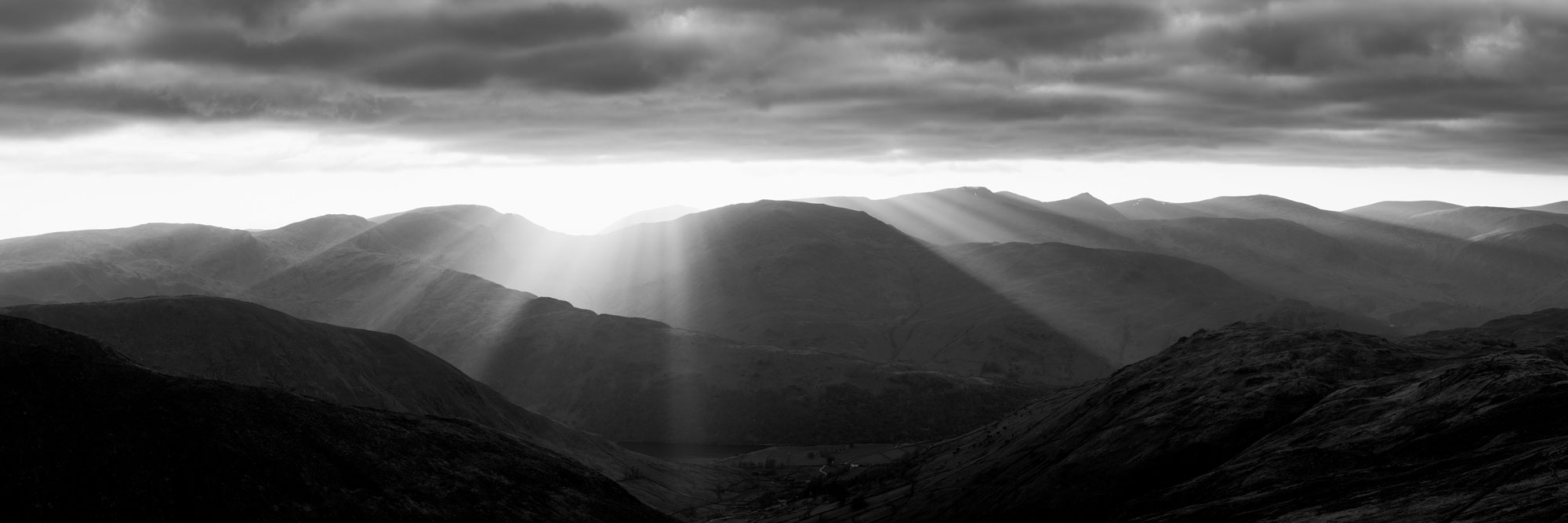 Gods rays over the Lake district