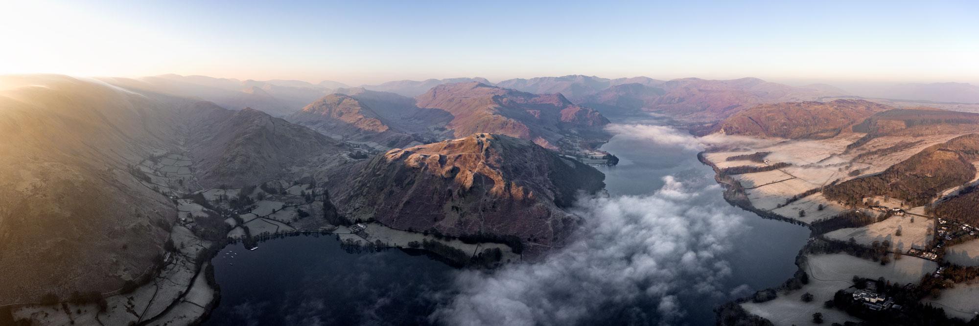 Martindale and Glenridding Lake District aerial print