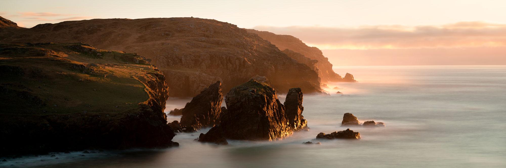 Hebrides cliffs Scotland