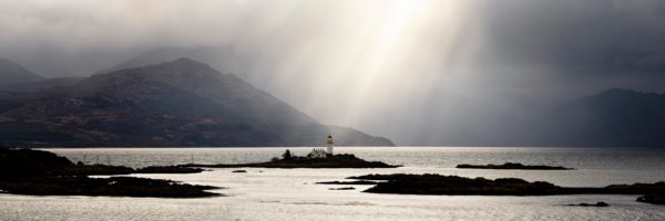 Scottish lighthouse on the isle of Skye