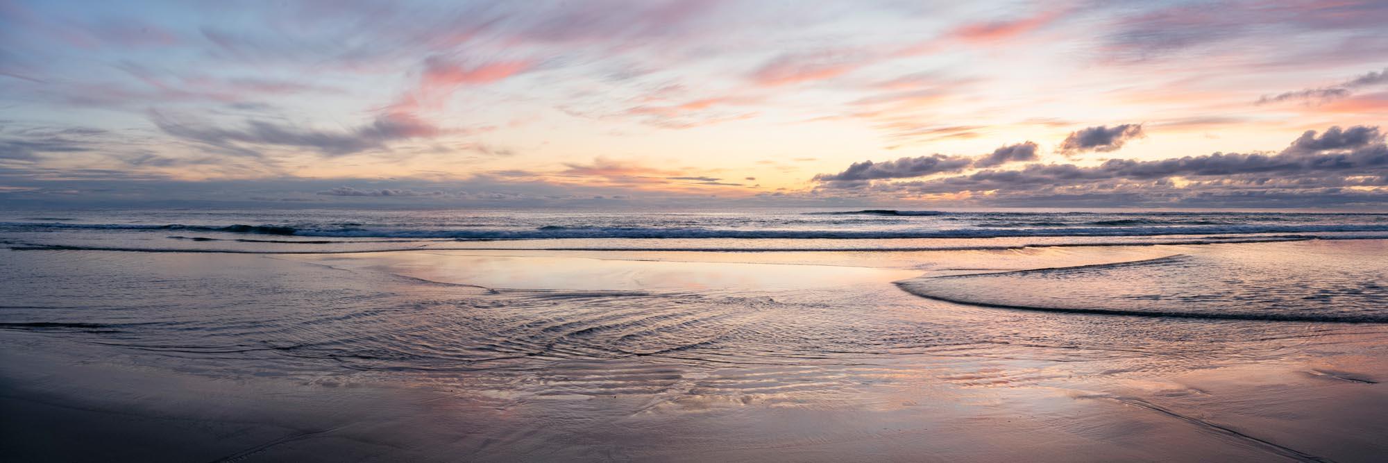 Sunset on a scottish beach