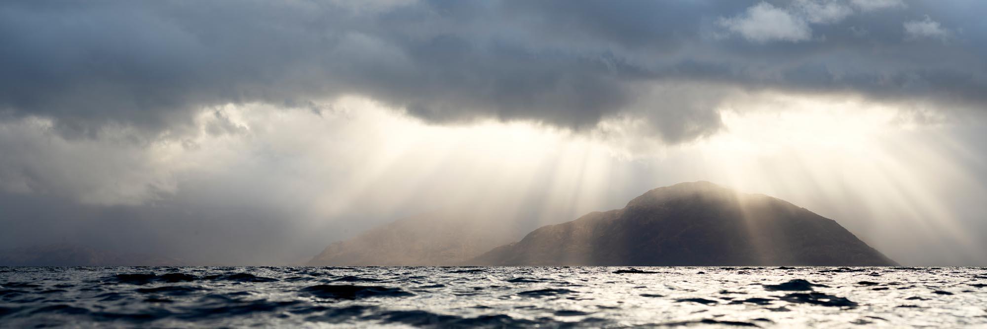 Scottish loch sun burst
