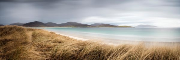 Beautiful white beach in the outer Hebrides Scotland