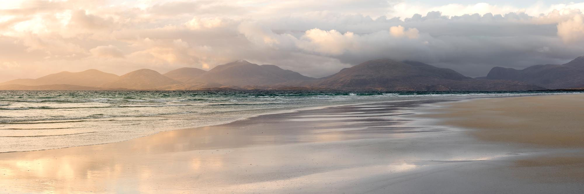Print of the beautiful white sand beach tin the outer Hebrides
