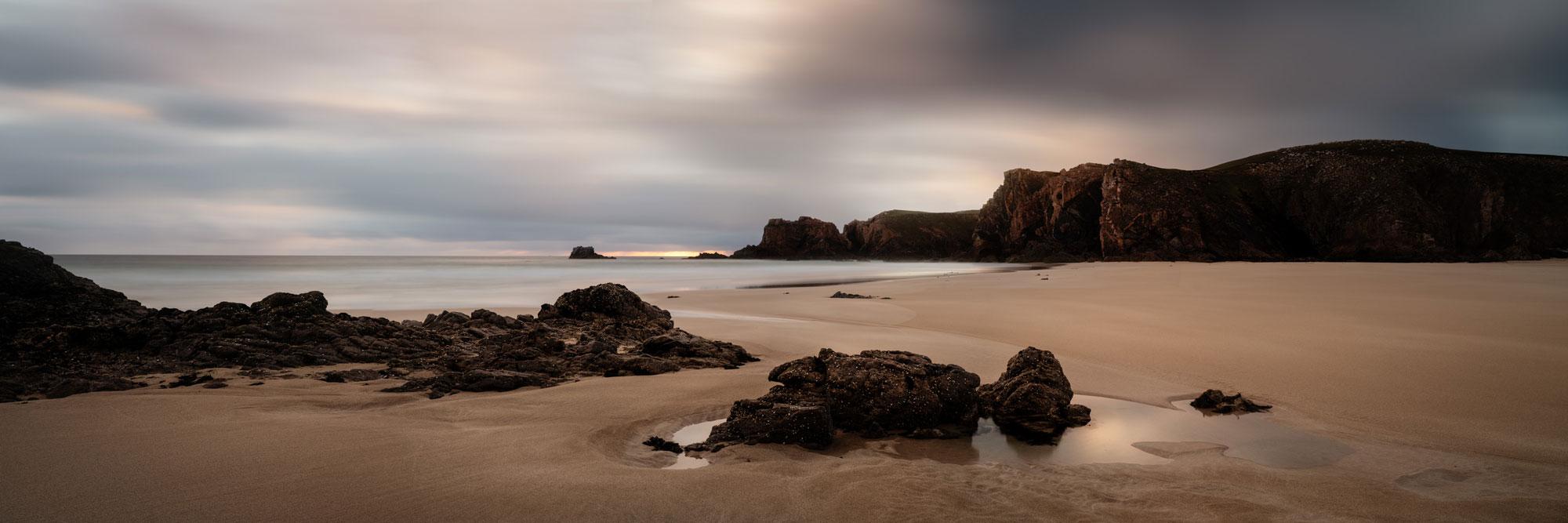 Mangurstadh beach panoramic Scotland