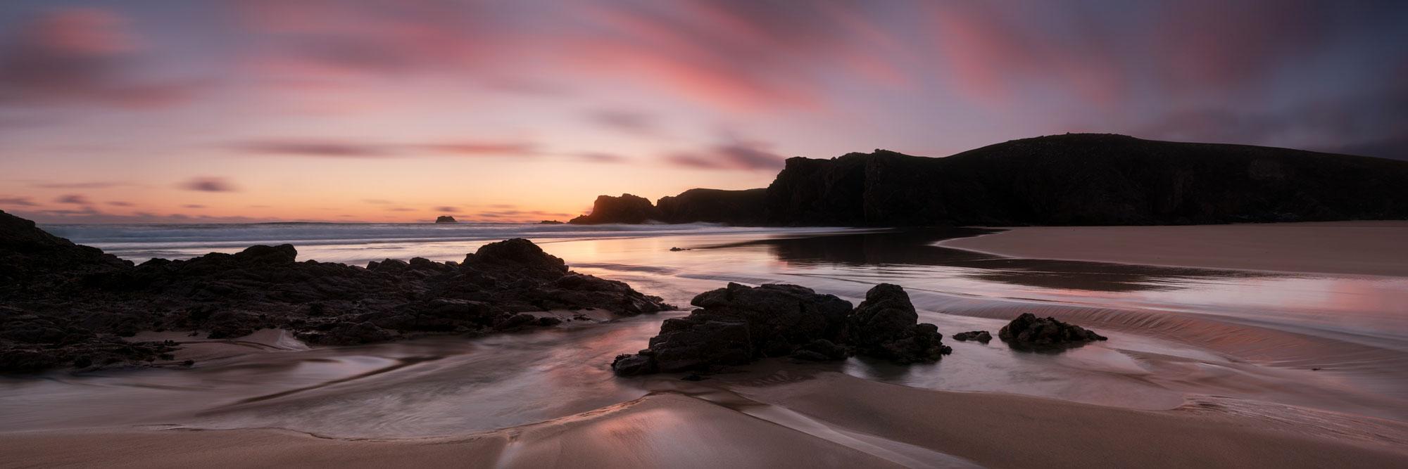Mangustadh beach at sunset Scotland