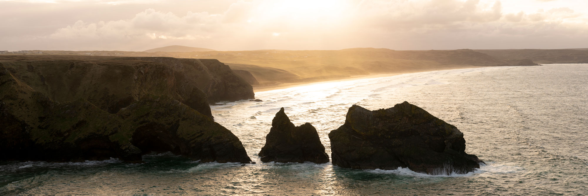 Tolsta head rocky coast Scotland