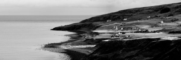 scottish coast black and white