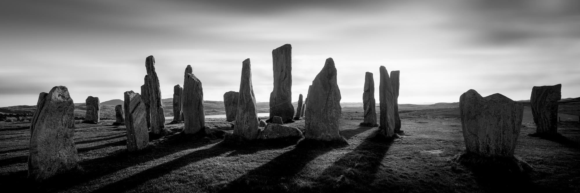 black and white stone circle Scotland