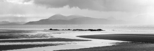 black and white Scotland isle of Skye print