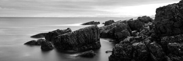Sloping rocky scottish coastline