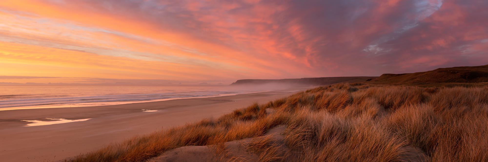 Sunrise amongst the dunes of a haebridean beach