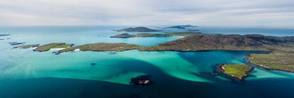 vatersay island aerial scotland