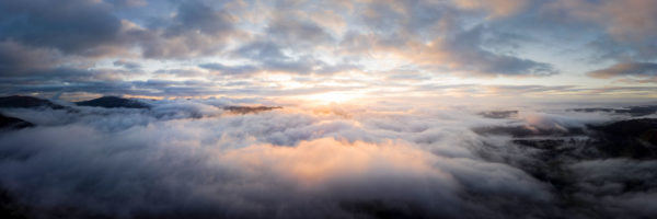 etherial heaven above the clouds