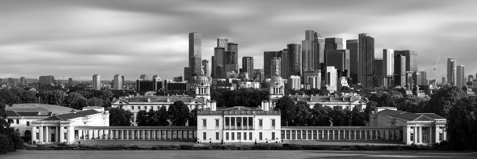 Greenwich Park view b&w
