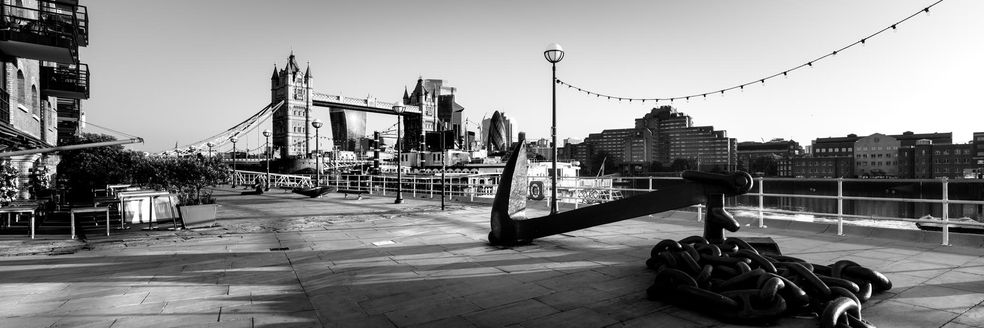 a anchor on the banks of the thames river