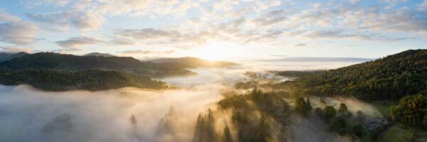 Lakeland meadows Ambleside aerial